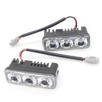 High Power 2Pcs Set 6 Led 9W Universal Car Light Source Waterproof DC12V DRL Daytime Running