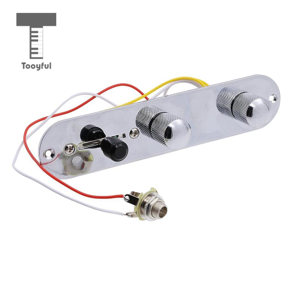small resolution of tooyful wired loaded control plate harness 3 way switch for tl tele telecaster electric guitar parts