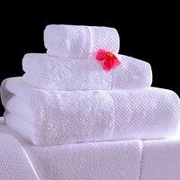 White Hotel Cotton Hand Bath Towel Sets Bathroom For Adults Serviette De Bain All For Bath Luxury Children Towel Bathroom QQC096