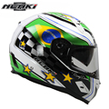 NENKI Motorcycle Full Face Helmet Fiberglass Shell Street Bike Racing Motorbike Riding Helmet with Dual Visor Sun Shield Lens