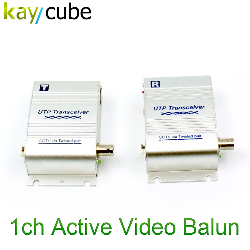 Metal Case 300-600m Transmission Distance 1ch Active Video Balun 301Tr Balun Single Channel Active Twisted-Pair Utp Transceiver