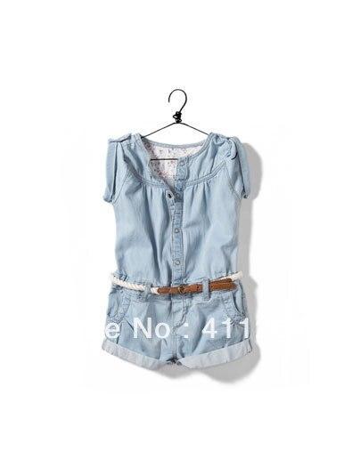 3818d2e91 5pcs lot Wholesale(2 7Y) children jumpsuit overalls short pants kids ...