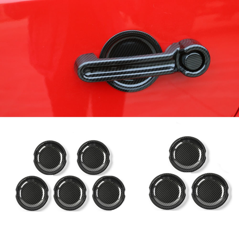 MOPAI ABS 2/4 Door Carbon Fiber Car Exterior Door Handle Bowl Trim Cover Stickers For Jeep Wrangler 2008 Up Car Styling nitro triple chrome plated abs mirror 4 door handle cover combo