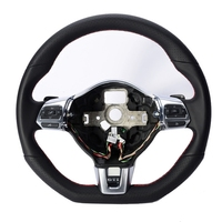 Chromed Red/Gray LineGolforR20Style Multifunction Steering Wheel Paddle DSG for VW Golf MK6 MK7 Jetta EOS Passat CC Tiguan