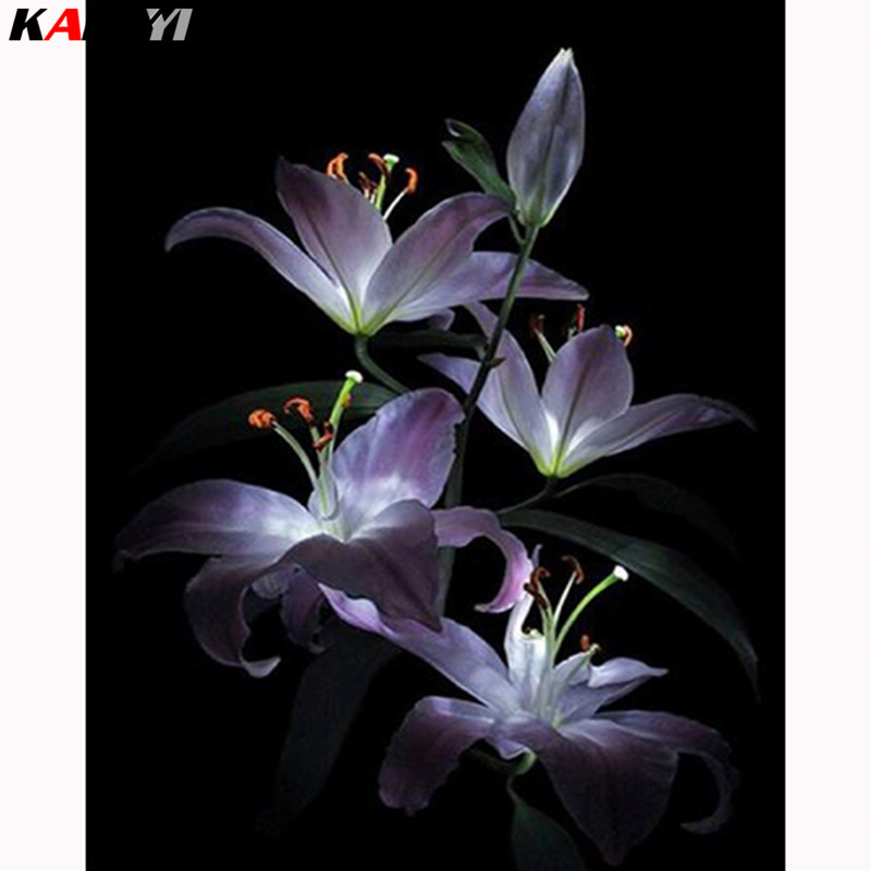 Lily DIY Diamond Painting Embroidery Cross Stitch Kit Home Decor Mural 40x40cm