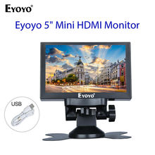 Eyoyo 5 inch Mini HDMI Monitor 800x480 Car Rear View TFT LCD Screen Display With BNC/VGA/AV/HDMI Output Built-in Speaker at070tn90 at070tn92 7 inch tft lcd touch screen hdmi vga av a d board 800 480 resolution car pc display screen