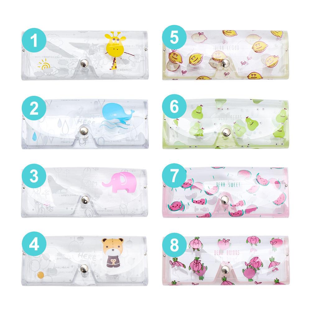 1Pc Transparent PVC Glasses Box Cartoon Cute Travel Women Eye Bag Case Protection Carry Box 2020 Girls Gift Eyewear Accessoires