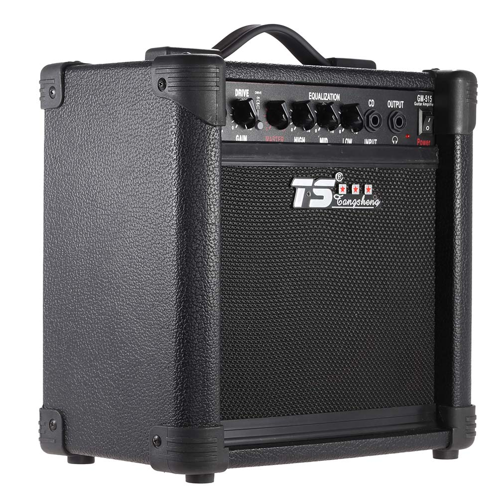 hot sale gm 515 professional 3 band eq 15w electric guitar amplifier amp distortion with 6 5. Black Bedroom Furniture Sets. Home Design Ideas
