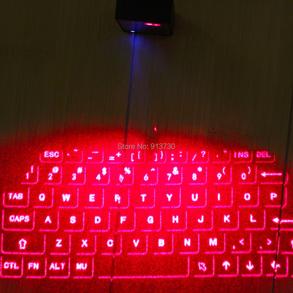 Original Virtual Laser Projection Bluetooth Keyboards Mouse Combo for iPad iPhone with Mini Speaker Voice Broadcast-Silver laser virtual keyboard