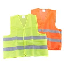 Бесплатная доставка видимость безопасности Детская безопасность жилет куртка Светоотражающие полосы Повседневная обувь форма Костюмы