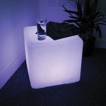 D40cmPE Material Rechargeable 16 color LED Square Cube Seat Chair Stool Waterproof LED table light cube chair Free Shipping 5pcs