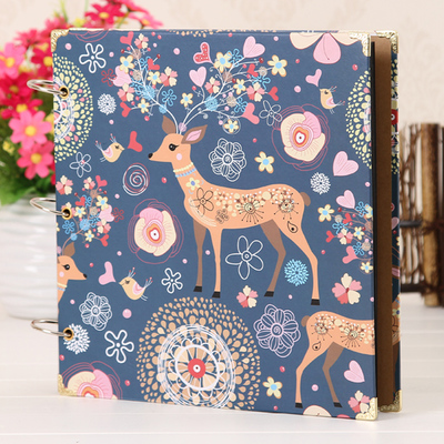 12 Inch Creative DIY Album Handmade Clipbook Photo Albums Scrapbook Paper Crafts Baby Growth Record Books In From Home Garden On