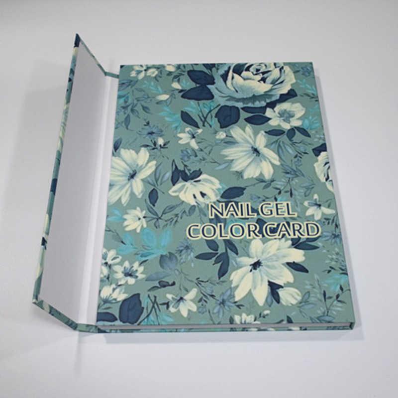 180 الألوان مسمار هلام اللون بطاقة رسم البولندية مطعمة عرض كتاب لصالون الأظافر الفن