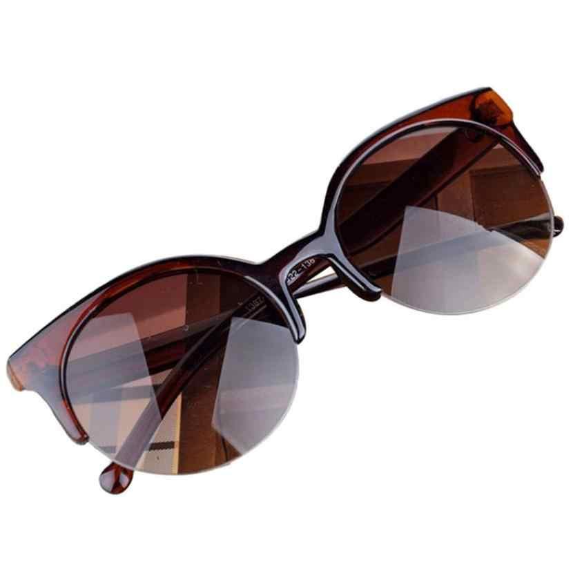 Mooistar # 4022Dヴィンテージサングラスキャットアイセミリムラウンドサングラス用男性女性サングラス
