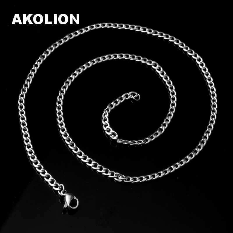 0.5 MM ze stali nierdzewnej o średnicy srebrny wąż łańcuch naszyjniki dla mężczyzn ze stali nierdzewnej srebrny wąż łańcuchy męskie naszyjnik klasyczny