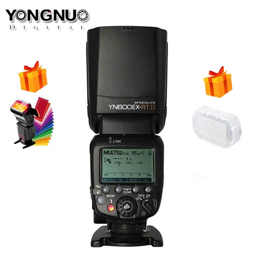 Original yongnuo YN600EX-RT ii 2.4g sem fio hss 1/8000s mestre ttl flash speedlite para câmera canon como 600ex-rt yn600ex rt ii