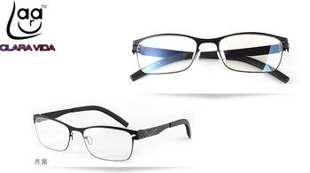 No screw Ultra lightweight stainless steel design Anti Blu ray ultraviolet-proof men women reading glasses +1 +1.5 +2 +2.5 +3