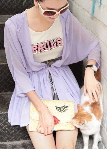 2013 women's uv sunscreen wrist-length sleeve candy color with a hood beach clothes sun protection clothing