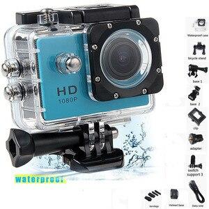 Image 1 - 1080P HD في الهواء الطلق كاميرا عمل رياضية صغيرة كاميرا ip مقاومة للمياه كام DV gopro نمط الذهاب برو مع شاشة كامل اللون مقاومة للماء