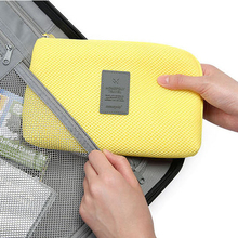 2 Size Travel Data Cable Charger Storage Bag Mobile Power Pack Pouch 3 Color