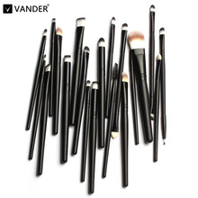 Vander Professional 20 Pcs Cosmetic Makeup Brush Set Tools Make-up Toiletry Kits Foundation Eyeshadow Eyeliner Pincel Maquiagem
