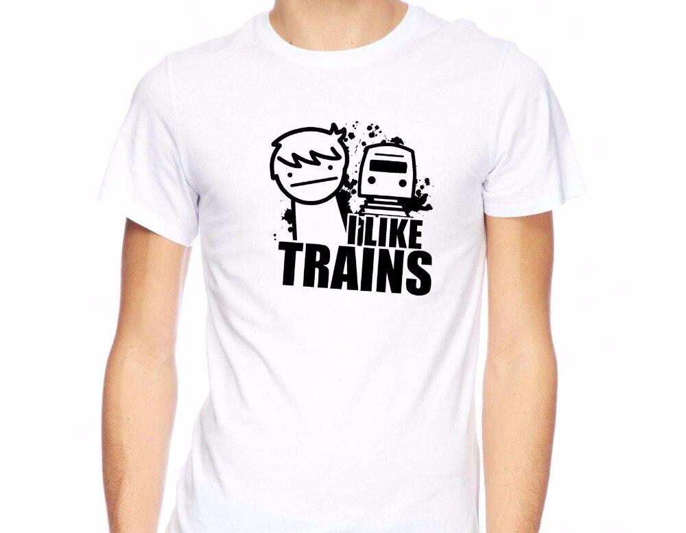 New Men T Shirt Fashion Unique T Shirtst-Shirt I Like Trains Memes Funny Asdf Inspired Parody Asdf Movie Comic Tee Shirts