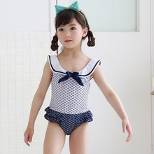 98b300908152e Baby Girls Swimwear Bath Suit Navy Blue Ruffle One Piece Girls' Swimsuit  Newborn Babies Swimsuits Swimming Bathing Clothes Girl
