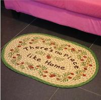 Free Shipping New Fashion Bedroom Carpet Oval Mat Living Room Bathroom Kitchen Non slip Mats Toilet Mat Carpet YHH005
