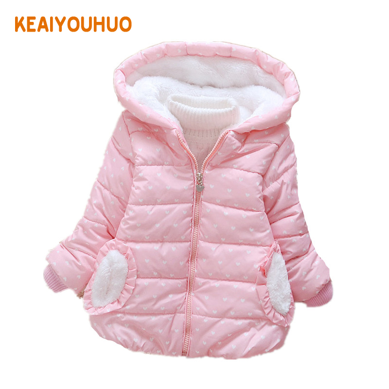 Retail Kid Toddler Girls Jacket Coat Polka Dot pattern Jackets For Children Outwear cute Clothing Winter