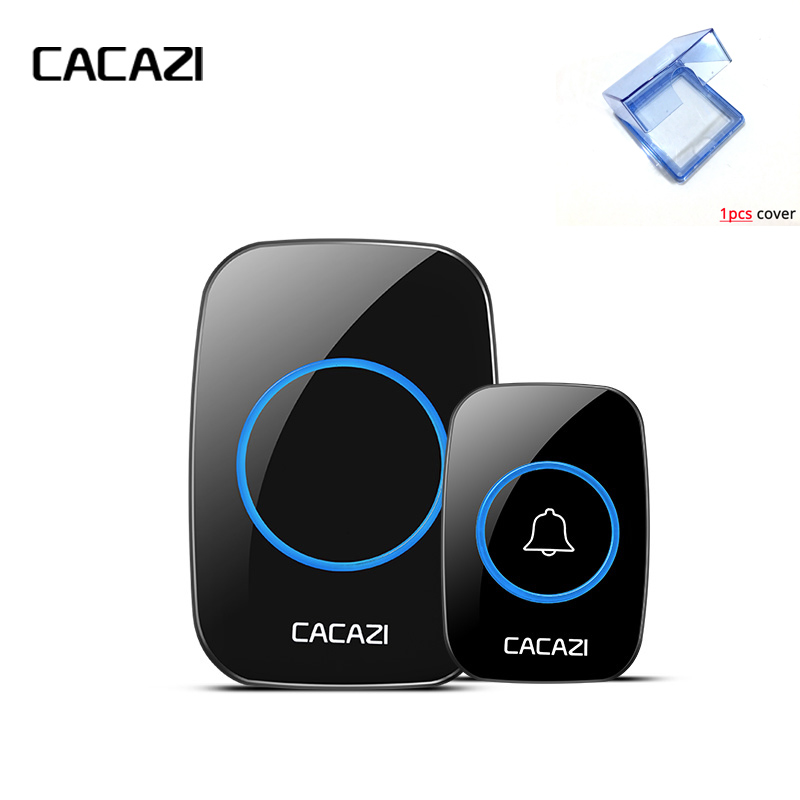 CACAZI New Wireless Doorbell With Waterproof Cover 300M Remote EU AU UK US Plug smart Door Bell Chime battery 1receiver AC Power wireless cordless digital doorbell remote door bell chime waterproof eu us uk au plug 110 220v