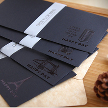 5 pcs/set Designs Paper Envelopes Vintage black European Style For Card Scrapbooking Gift Letter Free shipping(China)