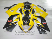 Top selling injection molding plastic fairings for Suzuki GSXR1000 K5 K6 2005 2006 yellow black fairing kit GSXR 1000 05 06 IK48