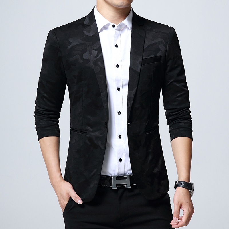 2018 Brand Men S Clothing Blazer One Button Slim Fit Suit Homme Jacket Size Over 5xl