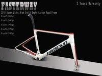 Белый красный с черным FASTERWAY классический набор углеродных дорожных Рам UD ткань углерода велосипед рамки: комплект + подседельный вилка заж