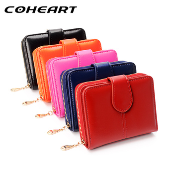 COHEART Elegant Wallet Women Fashion Purse Female Wallet leather multifunction purse small money bag pocket Wallet Top Quality !