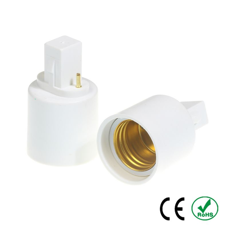 100pcs G23 to E27 E26 Adapter Lamp Holder Converter Lamp Base Socket Fireproof PBT Copper LED Light Bulb Holder Extender Plug