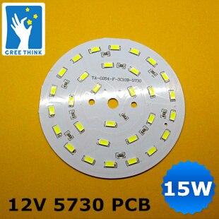 Новые прибыл 15 Вт PCB с smd 5630 5730 алюминиевая пластина вход 12 В, не нужно светодиодный драйвер, разъем 12 В.