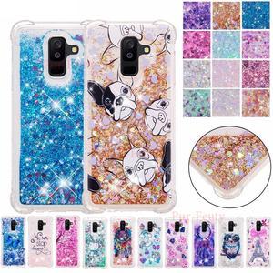 TPU Téléphone étuis pour samsung Galaxy A6 + A6 PLUS 2018 SM A605 A605F A605FN/DS Quicksand Couverture SM-A605F SM-A605FN/DS A6 6a Couverture