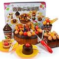 73pcs Kitchen Set Toys DIY Cake Play House Pretend Food Dessert Toy Cake Cutting Birthday Party Fruitcake for Kids