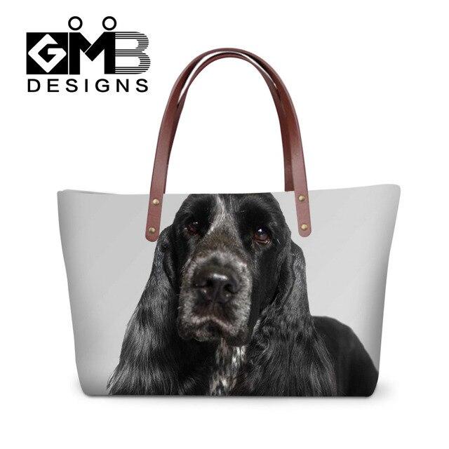 b2c2290cc6 Femmes sac de luxe sacs à main de mode Cocker chien impression sacs à  bandoulière marque