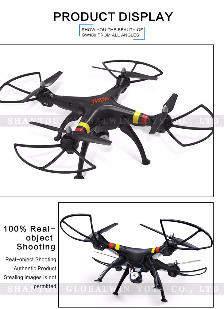 10Global Drone GW180 Dron with Camera WIFI HD FPV Hovering Quadrocopter Can Carry 4K Camera Drones