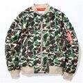 2016 Осень Мода Снайпер Военный Камуфляж Куртки и Пальто Мужчины Высокого Качества Дэдпул Бренд Kanye West Yeezy Куртки Бомбардировщика