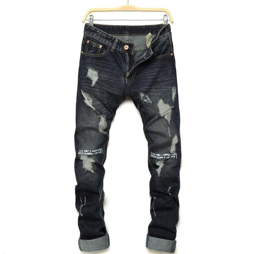Compare Prices on Slim Destroyed Jeans Men- Online Shopping/Buy ...