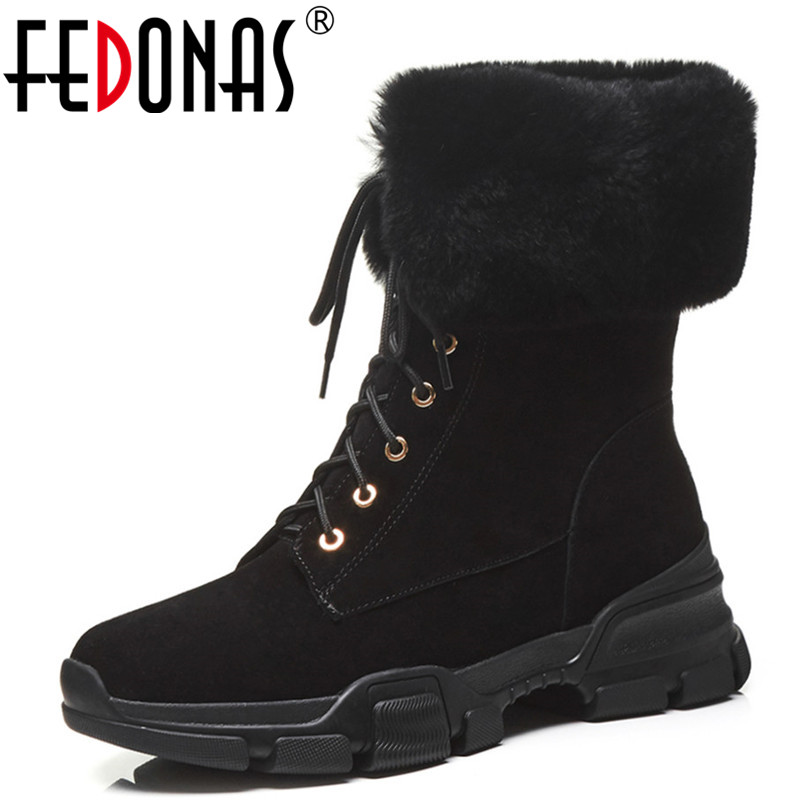 все цены на FEDONAS Top Quality Women Ankle Boots Wedges Heels Corss-tied Winter Martin Shoes Cow Suede Short Motorcycle Boots Ladies Shoes