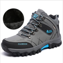 Classic Men's high-top shoes winter hiking climbing keep wear shoes men's waterproof outdoor walking sport shoes 2016 OT169