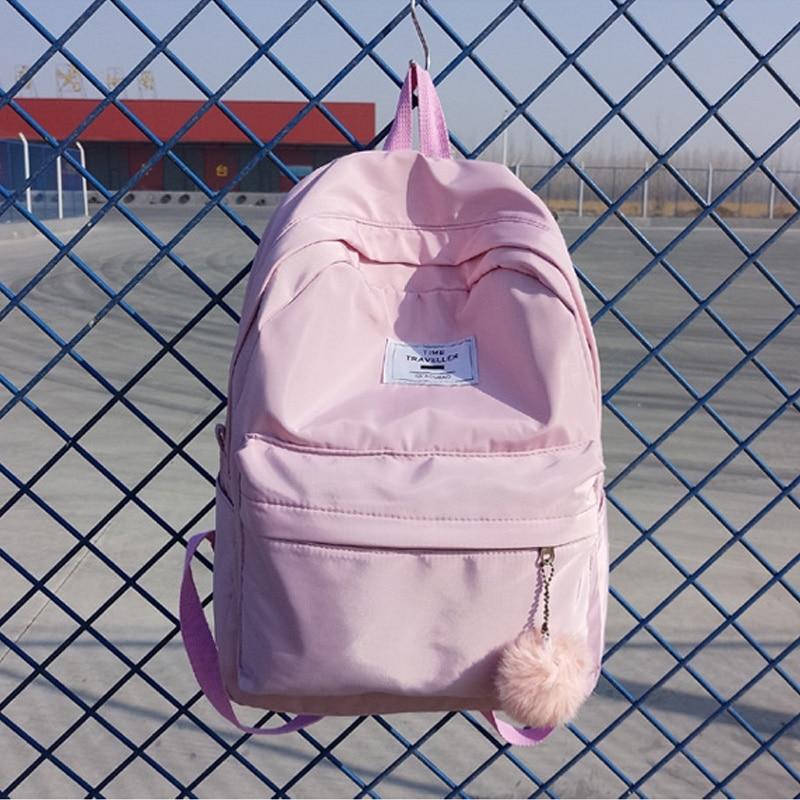 Women Backpack Preppy Suede Backpacks Girls School Bags Nylon Backpack Travel Bag Female Backpack PInk Blue Black Mochila 2018 preppy style women backpack waterproof nylon backpack 10 colors lady women s backpacks female casual travel bag mochila feminina