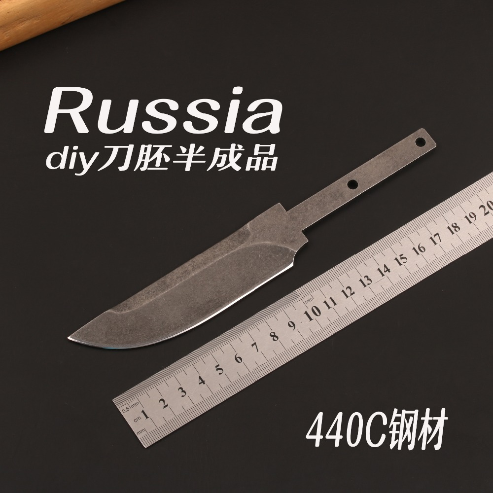 Pocket knife blade blanks 440C Stainless Steel fixed blade knife making parts hunting knife фреза johnson blade knife