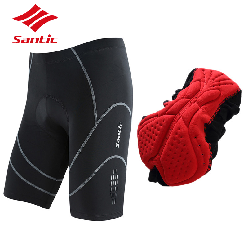 Santic Cycling Shorts Pro 4D Padded Men Summer Sportswear Road Bicycle Bike Downhill Triathlon Shorts Pants