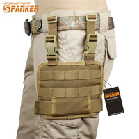 SPANKER Molle Outdoor Military Mesh Tools Pouch Tactical Leg Bag Hunting Bags Pack Accessory Magazine Pouches