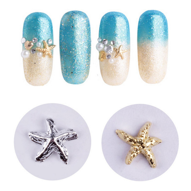 Nails Decorations New Arrive 3D Nail Charms Studs Metal Starfish Nail Art  Decorations for Nails Decoracion - Nails Decorations New Arrive 3D Nail Charms Studs Metal Starfish